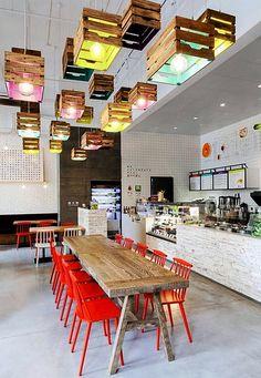 Decoration Restaurant - Bright Idea - Home, Room, Furniture and Garden Design Ideas Decoration Restaurant, Deco Restaurant, Restaurant Interior Design, Restaurant Lighting, Restaurant Ideas, Luxury Restaurant, Restaurant Interiors, Small Restaurant Design, Pub Decor