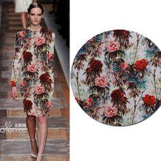 Handmade-painted Chinese style true Velvet Fabric, Jacquard Fashion Fabric cloth, Cheongsam Dress Fabric Material