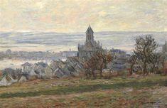 """The ChurchofVetheuil"" ・ by Claude Monet ・ Completion Date: 1881 ・ Style: Impressionism ・ Genre: landscape"