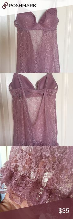 Gorgeous blush color Victorias's Secret babydoll Brand new. Marked size 34C , but does not appear to be, runs small. More like 34B, or even a  really full A cup. Very pretty lace, partially open back. Victoria's Secret Intimates & Sleepwear Chemises & Slips