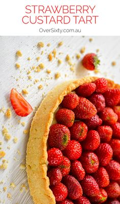 Strawberry Custard Tart - talk about desert inspiration. This recipe is just perfect for dessert when strawberries are in season and you want to impress. Whether it's date night, a family picnic, or a fabulous dinner party. This tart is a winner.