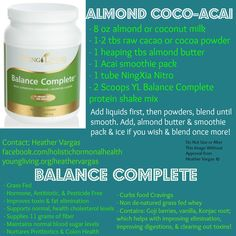 1000+ images about YL Balance Complete Recipes on ...