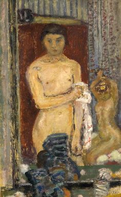 Bonnard, Pierre (French, 1867-1947) - Reflections of Nude in the Mirror - 1907