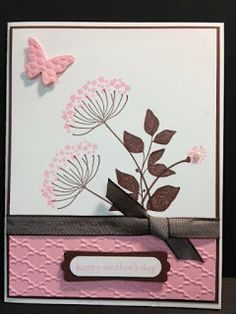 3/2/2013; Wanda at 'My Creative Corner!' Blog; Summer Silhouettes and Teeny Tiny Wishes stamp sets; Pretty in Pink and Chocolate Chip; Word Window punch and Modern Label punch
