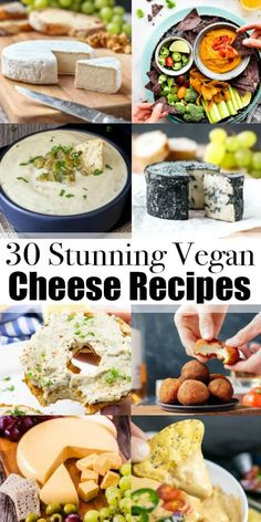 If You're Looking For Vegan Cheese Recipes, You Will Love This Vegan Cheese Roundup Ditch The Dairy And Try Some Of These Non-Dairy Cheese Recipes Find More Delicious Vegan Recipes At Vegan Appetizers, Vegan Dinner Recipes, Delicious Vegan Recipes, Dairy Free Recipes, Raw Food Recipes, Veggie Recipes, Vegetarian Recipes, Cooking Recipes, Healthy Recipes