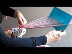 Weaving Sámi bands with one group of pattern threads 2015 - YouTube