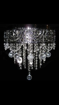 Glass Chandelier from A V Designs Light Fittings, Light Fixtures, Cool Lighting, Lighting Design, Chandelier Lighting, Iron Chandeliers, Black Chandelier, Idee Diy, Lampshades