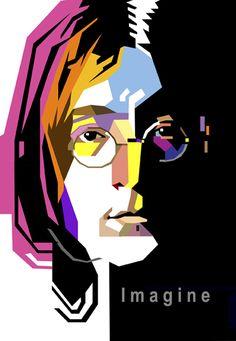 John Lennon in WPAP by wedhahai on deviantART