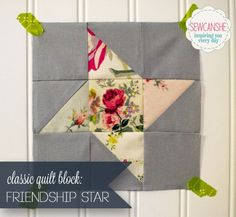 Classic Blocks: Fresh Fabrics... the Friendship Star. Part of a monthly series with classic quilt blocks.