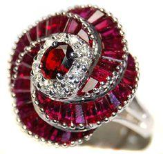 Unique 18K White Gold Eternity Ruby Diamond Cocktail Ring [RB0001] BKGjewelry http://www.amazon.com/dp/B00BRJ3YCO/ref=cm_sw_r_pi_dp_Gisqwb1PTR45C