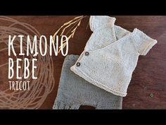 Tutorial Kimono Bebé Tricot | Dos Agujas (Conjunto Kimono) - YouTube