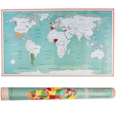 Scratch off where you've been and keep track of your travels with this quirky scratch World Map. Product Details: Size of map: Packaged in a World Map tube (l: d: Material: Card, Paper Dimensions: Length: 52 cm Width: 87 cm Cool Gifts, Unique Gifts, Scratch Off, Consumer Reports, Paper Dimensions, Gadget Gifts, Stickers, Decoration, Traveling By Yourself