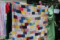 One of my older quilts, worn and loved