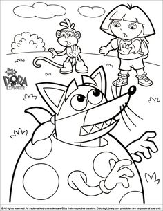 Dora Boots Easter Coloring Page