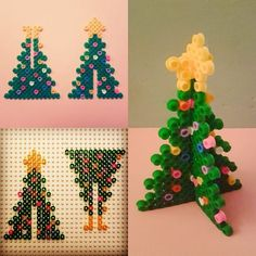 Christmas crafts: lots of great ideas iron beads christmas tree christmas Christmas diy hama bead tree crafting crafts for kids for teens to make ideas crafts crafts Kids Crafts, Tree Crafts, Christmas Crafts For Kids, Holiday Crafts, Christmas Diy, Christmas Decorations, Christmas Ornaments, Christmas Tables, Modern Christmas