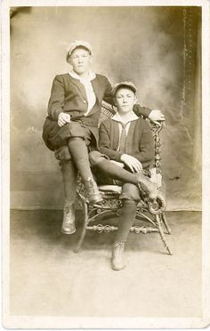 queering: queer find of the day:Butch Girls,c.1915 via project b [thanks to  dulltooldimbulb;]