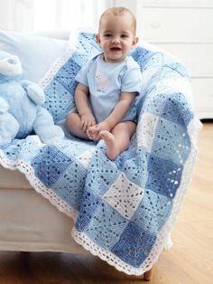 Manta moña | lana | Patrones Tejer Gratis | Crochet Patterns | Yarnspirations
