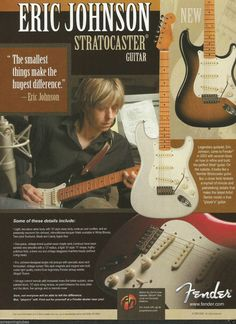 2005 Fender Eric Johnson Signature Stratocaster Guitar Pinup Ad | eBay