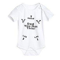 be7f4af090bf Newborn Infant Baby Boys Girls Summer Letter Print Romper Jumpsuit Sunsuit  Onesies Outfits (0-