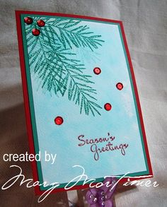 CC597, Christmas Pine by Margscardcrazy -FS500 at Splitcoaststampers