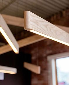 Line Lights in white ash.  Repost @matthew.mccormick  #design #light #wood