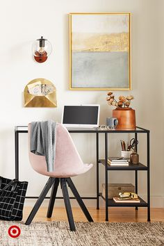 Refresh your work space with stylish home office ideas, desk organization tips & chic modern decor. Home Design, Home Office Design, Home Office Decor, Office Ideas, Interior Design, Office Inspo, Home Office Space, Home Office Furniture, Cute Room Decor