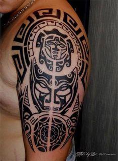 maori tattoos for men explanation Maori Tattoos, Tribal Tattoos, Bull Tattoos, Taurus Tattoos, Maori Tattoo Designs, Samoan Tattoo, New Tattoos, Body Art Tattoos, Tattoos For Guys