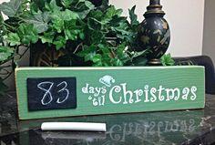 Days 'til Christmas Custom Pallet Countdown Sign