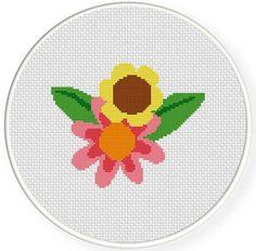 Charts Club Members Only:  FlowerTwo Cross Stitch Pattern