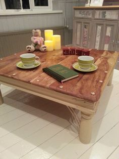 Shabby Chic Large Antique Rustic Pine Coffee Table - Annie Sloan. Another stunning piece from Chic Boutique Furniture in Leicester.