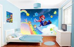 """Papier peint 3D enfant poster géant """"Glissade sur l'arc-en-ciel"""""""