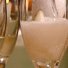 Champagne with Pear Liqueur