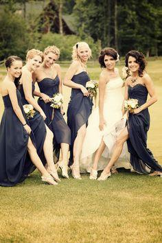 Love the bridesmaids dress color!!