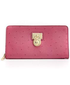 MICHAEL Michael Kors Handbag, Hamilton Zip Around Continental Wallet - Wallets & Wristlets - Handbags & Accessories - Macy's