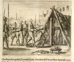 Anabaptists being burned at Antwerp, 1567. Credit: The Flemish American: December 2008