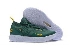 8da5c6cbfd9 Nike KD 11 Army Green White Metallic Gold Men s Basketball Shoes-2  Basketball Rim