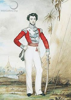 Portrait Of Captain Edward Thomas Coke Of The 45th Regiment While Serving At Rangoon, Burma In 1826