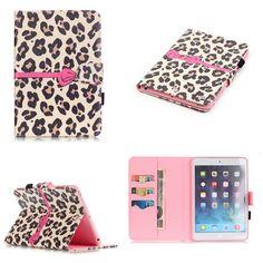 iPad Mini Leopard PU Leather Cases For Apple Ipad Mini 1 2 3 PU Leather Cover Wallet Cases
