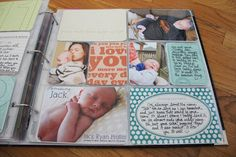 amazing, priceless baby project life pages by @Kristina Proffitt