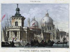 Venezia, Dogana della Salute (National Library of Poland - 1847, lithography)