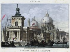 Venezia, Dogana della Salute (National Library of Poland - 1847, lithography)