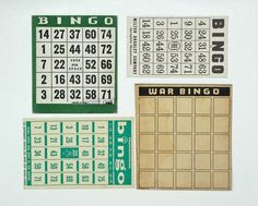 Bingo board collections by Lisa Congdon