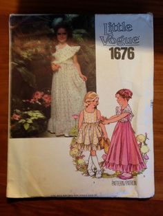 Vintage 1980's Girls Dress and Shawl by CircaSewingPatterns