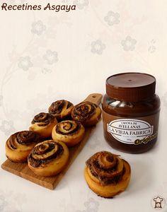Rollitos de Crema de Chocolate / Chocolate Brioches _Recetines Asgaya