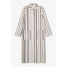 Monki Striped duster coat (2.435 RUB) ❤ liked on Polyvore featuring outerwear, coats, jackets, sleek stripes, long coat, striped coat, long lightweight coat, stripe coat and lightweight coat