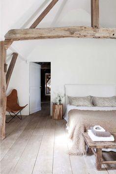 floorboards annexe bedroom suite.  wide whitewashed / limewashed /v light colour wood / grey