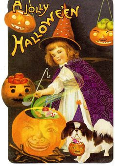 Postcrossing - Vintage Halloween card sent to Postcrosser in Canada. Happy Halloween Pictures, Halloween Photos, Halloween Signs, Spirit Halloween, Holidays Halloween, Halloween Crafts, Halloween Decorations, Paper Halloween, Halloween Labels