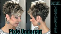 Undercut Pixie Timed Hair Tutorial, - Frisuren - Haare und Make-up Short Hairstyles For Women, Hairstyles With Bangs, Edgy Pixie Hairstyles, Hairstyles Men, Short Hair Cuts For Women Pixie, Pixie Cut With Undercut, Braided Hairstyles, Undercut Pixie Haircut, Pixie Haircut For Thick Hair