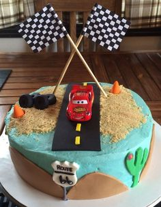 Cumpleaños infantiles de Cars Disney Cars Birthday, Cars Birthday Parties, Boy Birthday, Birthday Cake, Cake Designs, Cupcake Cakes, Birthdays, Sweets, Baking