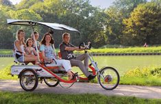 Keyony tandem trike with two extra seats and solar rooftop